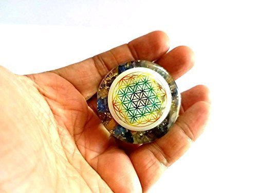 (Jet New Mix Chakra Orgone Flower of Life Tower Buster Orgonite Piezo Electric EMF Protection Generator Frequency Ions Tested Cloud Chem Buster 40 Page Jet Image is JUST A Reference)