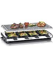 SEVERIN RG 2374 Raclette met natuurgrillsteen, 1700, kunststof/roestvrij staal, zwart