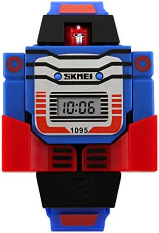 Unisex Cartoon 3D Robot Watches Digital LED Watch for Child's Students Watch Boys and Girls Outdoor Sports Watch Christmas Gift Watch