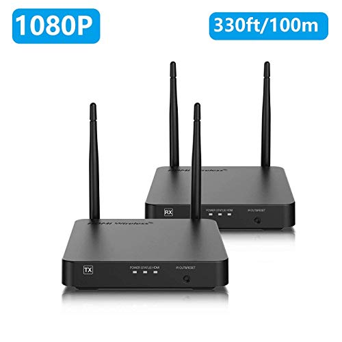Wireless HDMI Extender/Adapter, NexTrend Wireless HDMI Transmitter and Receiver 328ft Supporting HD 1080P 3D Video&Digital Audio from PC, Netflix, PS4 to HD TV/Projector with IR and Support Loop-Out