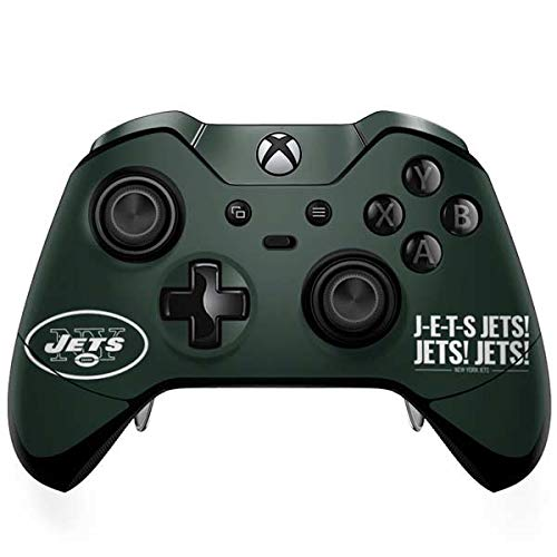 (Skinit New York Jets Team Motto Xbox One Elite Controller Skin - Officially Licensed NFL Gaming Decal - Ultra Thin, Lightweight Vinyl Decal Protection )