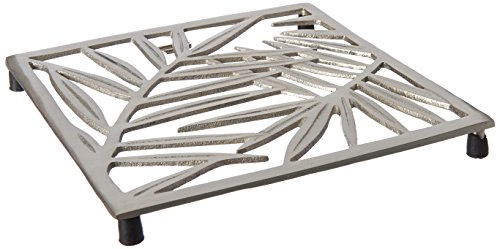 Old Dutch Satin Nickel Square Leaf Trivet (Aluminum Trivet)