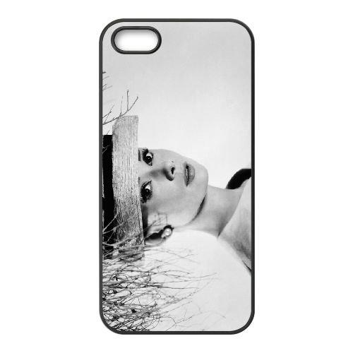 Audrey Hepburn 005 2 coque iPhone 4 4S cellulaire cas coque de téléphone cas téléphone cellulaire noir couvercle EEEXLKNBC23172