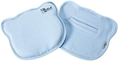 Almohada para Bebe para plagiocefalia desenfundable (con dos forros) para prevenir-curar la Cabeza Plana in Memory Foam Antiasfixia - KoalaBabycare® - Perfect Head - Azul