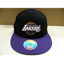 Adidas NBA LA Lakers Custom Black Purple 2 Tone Flex Cap L-XL