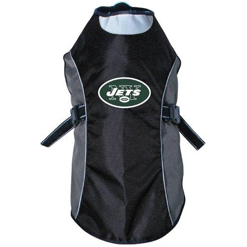 NFL New York Jets Hunter Reflective Pet Jacket, Large, Black or Navy