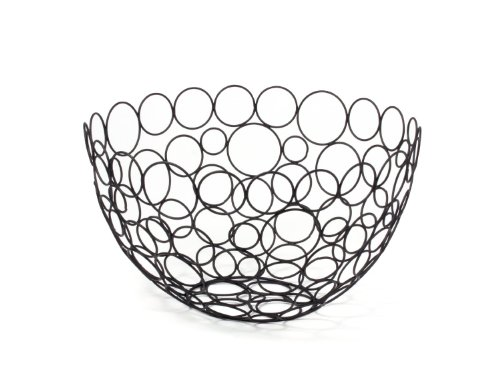 Spectrum Diversified Shapes/Circles Round Fruit Bowl, (Glass Vegetable Bowl)