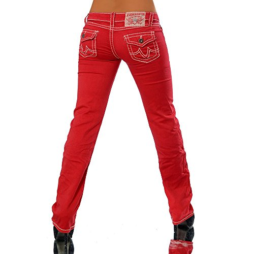 Diva Donna jeans Rosso Jeans Basic Boot Cut PzPwp