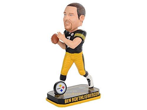Pittsburgh Steelers Logo Figurine (NFL Pittsburgh Steelers Roethlisberger B. #7 2014 Springy Logo Base Bobble Road Figurine, Black)