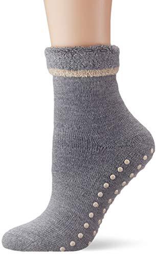 ESPRIT Damen Stoppersocken Cosy - Schurwoll-/Baumwollmischung, 1 Paar, Versch. Farben, Größe 35-42 - Wärmende Stoppersocke mit rutschsicherem Silikondruck