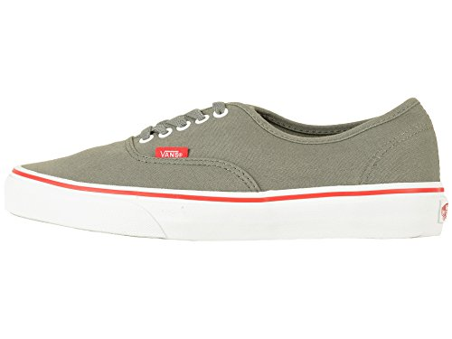Vans Herren Authentic Skate Schuhe (Pop) Castor Grey / Racing Red Castor Grey / Racing Rot