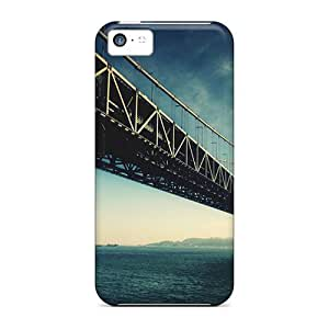 Tpu Anglams Shockproof Scratcheproof Long Bridge Hard Case Cover For Iphone 5c