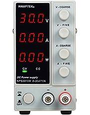 مصدر طاقة تيار مستمر بديل NPS3010W 0-30 فولت 0-10 أمبير 3 أرقام شاشة LED عالية الدقة إمداد طاقة صغير قابل للتعديل 50/60 هرتز وإخراج ثنائي منظم تيار, TYJANDOERE7198UKAE, ابيض