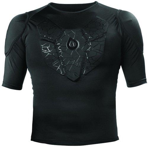 SixSix One Unisex Sub Gear Short-Sleeve Undergarment Motorcycle Body Armor - Black / (Sixsixone Body Armor)