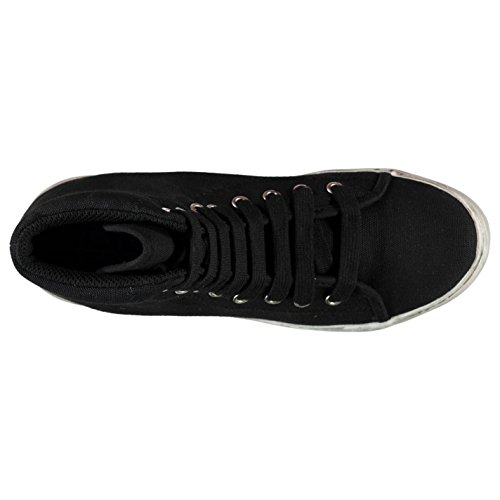 Jeffrey Campbell Play Canvas Washed Hi Top Sneaker Damen schwarz/weiß Sneakers