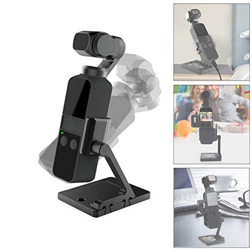 RCGEEK Charging Base Desktop Stand Dock Table Stand Base for Compatible DJI OSMO Pocket Charging Support Accessory Holder Heightened Rotated Aluminum Mount Base for DJI Osmo - Pocket Desktop