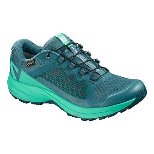 Salomon XA Elevate GTX Shoes Women Black/Potent Purple/Tropical Green 2018 Laufsport Schuhe Blau/Türkis