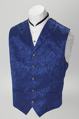 WahMaker by Scully Men's Wahmaker Silk Floral Single Breasted Vest Hunter Green XX-Large