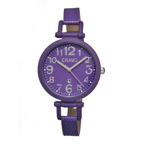 crayo-womens-cr0607-balloon-leather-watch-purple-standard
