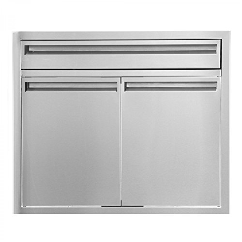 BBQGuys.com Aspen Series 30-inch Stainless Steel Double Door & Single Drawer (Steel Single Drawer)