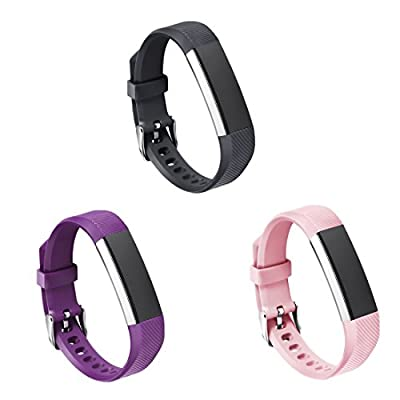 GinCoband 3PCS Fitbit alta HR bands,Replacement bands for Fitbit Alta,Fitbit alta HR with Watch Buckle