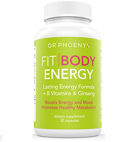 Dr. Phoenyx FitBody Energy Supplement for Women – Boosts Energy, Focus & Motivation – Energy Vitamins with B Vitamins, Ginseng, Maca Root & More! 1 Month Supply (30 Day Supply)