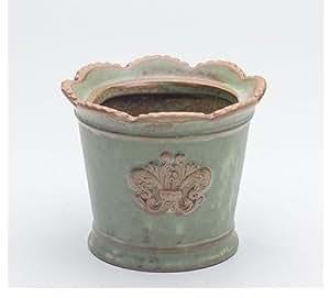 Cerámica cerámica casa/jardín maceta flor verde Europa Estilo Vintage