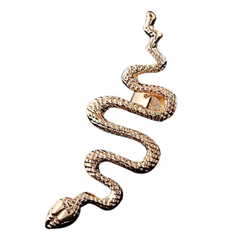 55cf753780c Qtalkie Cool Stylish Retro Vintage Punk Winding Snake Left Ear Cuff Wrap Earring  Gold