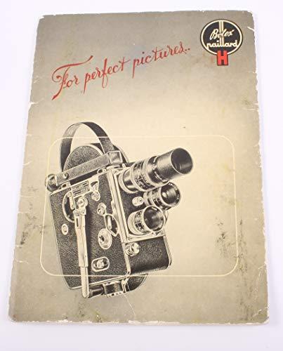 Instruction Manual for BOLEX H 16MM Movie Film Camera, Vintage Original from 16MM MOVIE FILM CAMERA MANUAL