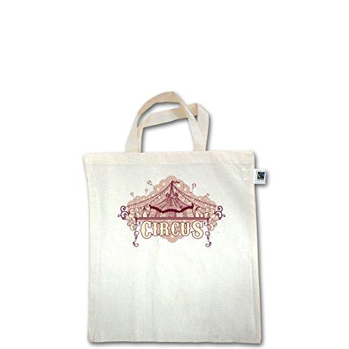 Statement Shirts - Circus - Unisize - Natural - XT500 - Fairtrade Henkeltasche / Jutebeutel mit kurzen Henkeln aus Bio-Baumwolle