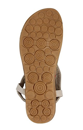 Yodensity Böhmen Damenschuhe Sommer Sandalen Damen Zehentrenner Elegent Vintage Strandschuhe Beige