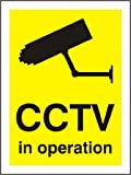 CCTV IN OPERATION SIGN RIGID 1mm 200x150mm WARNING SIGN CAUTION SIGN