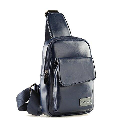 Sincere® pecho ocio paquete / estudiante de mochila / deportes al aire libre del mensajero / bolso de mensajero azul de los hombres