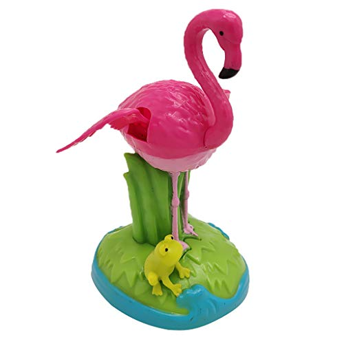 Flameer Solar Powered Bobbing Frog Flamingo Animal Figure Model - Fun Solar Science Toy Bobbleheads Home Desktop Car Halloween Decor -