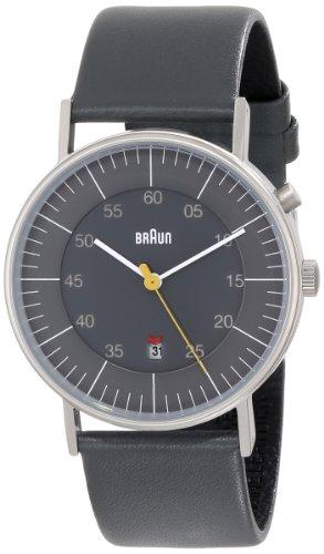 Braun Men's BN0013GYGYG Classic Calendar Grey Stainless Steel Watch