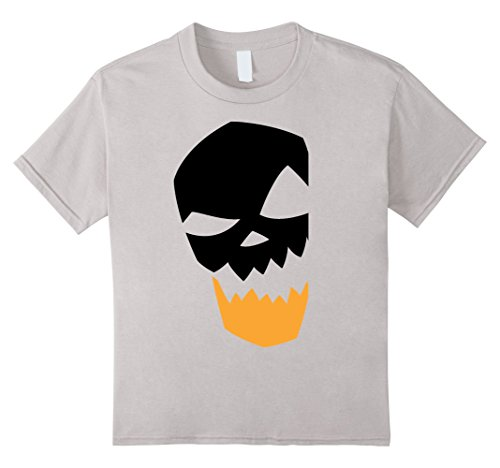 Custom Fit Halloween Masks (Kids Scary And Spooky Halloween Mask Face Horror Novelty Tshirt 10 Silver)