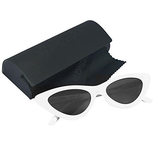 Alondra Kolt Cat Walks Cat Eye 90's sunglasses (White / - Sunglasses 90