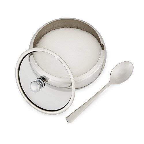 16.90 Ounces KooK Sugar Bowl Glass Lid With Spoon 0.5L Sugar Dispenser Wide Mouth