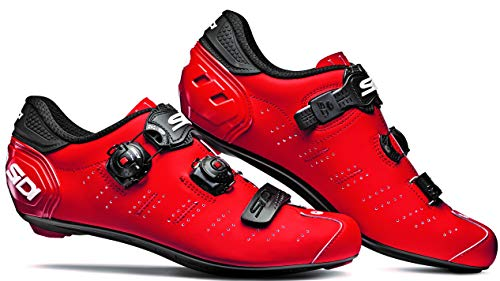 Ergo 5 Carbon Road Cycling Shoes (47.0, Matte Red/Black)