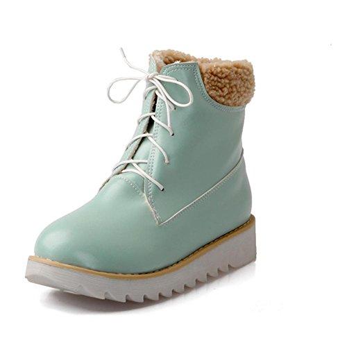 H HDonna in inverno (rosa, beige, blu) davanti a pizzo con scarpe da neve in gomma anti-skid usura , blue , 40