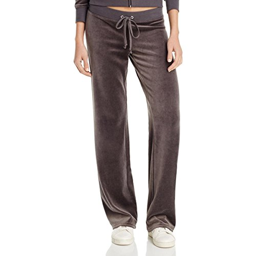 Discount Designer Clothing Handbags Shoes - Juicy Couture Black Label Womens Velour Drawstring Track & Sweat Pants Gray S