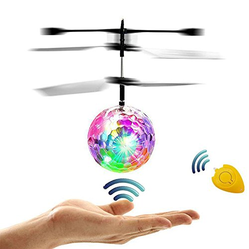 RC Flying Ball,Seilent RC Helicopter Drone Hand Suspension Flying Toys With Shining LED Colorful Lighting for Kids,Best Gifts Choices for Girls and Boys Toys