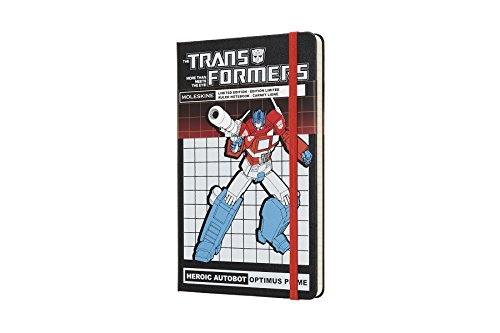 """Moleskine Limited Edition Transformers Hard Cover Notebook, Ruled, Large (5"""" x 8.25"""") Optimus Prime - Hard Cover Notebook for Writing, Sketching, Journals"""