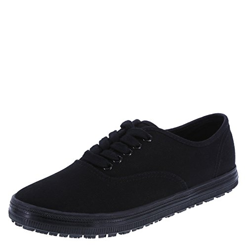 safeTstep Slip Resistant Women's Black Canvas Women's Kandice Canvas Oxford 5 Regular