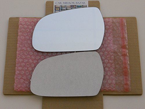 New Replacement Mirror Glass with FULL SIZE ADHESIVE for AUDI A3 A4 A5 S4 S5 Driver Side View Left LH SEE NOTES MORE THAN 1 OPTION AVAILABLE ()