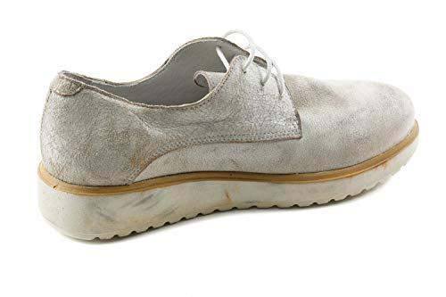 Felmini de Piel Blanco Lisa Cordones Mujer Zapatos FM1 086 para Blanco de rq1wBprx