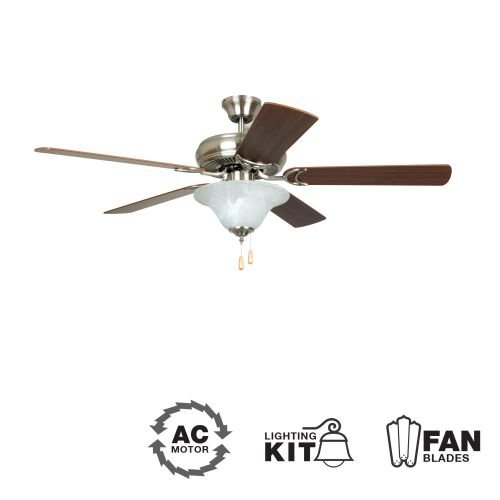 Litex E-DCF52BNK5C1 Decorator's Choice 52-Inch Ceiling Fan w