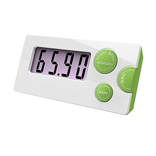 Smileto¨ Digital LCD Countdown Timer With jumpo Display For Kitchen/Lab/Laundry/darkroom&more (Green)