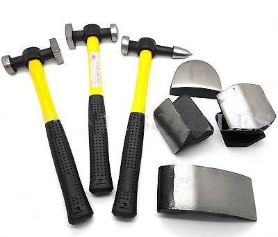 Auto Dent Repair Tools >> 7 Pc Auto Body Fiberglass Fender Repair Tool Hammer Dolly Dent Bender Auto Kit - Buy Online in ...
