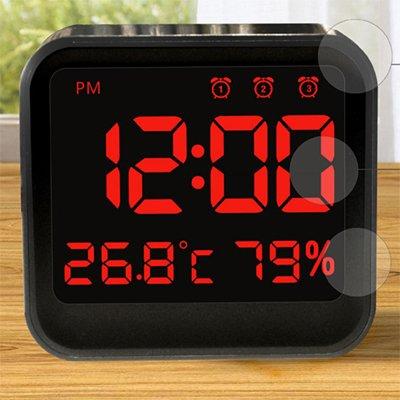 Cunclock Automática de cambio de día/noche de brillo LED reloj despertador de sobremesa USB